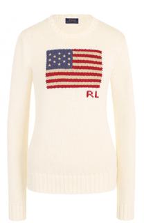 Хлопковый пуловер с круглым вырезом Polo Ralph Lauren
