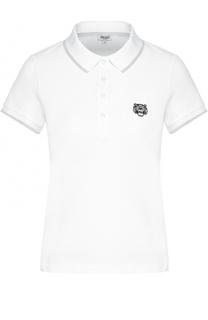 Хлопковое поло с логотипом бренда Kenzo