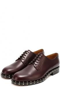 Кожаные дерби Rockstud на шнуровке Valentino