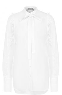 Блуза с удлиненной спинкой и оборками No. 21