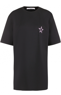 Удлиненная хлопковая футболка с принтом в виде звезды Givenchy