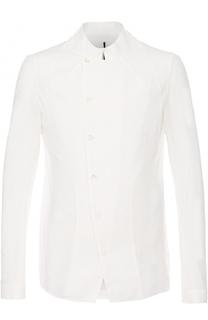 Хлопковая рубашка асимметричного кроя Masnada