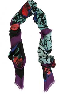 Платок из шерсти и шелка с принтом Elie Saab