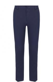 Хлопковые брюки прямого кроя с вышивкой Valentino