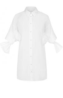 Удлиненная блуза с бантами на рукавах Victoria by Victoria Beckham