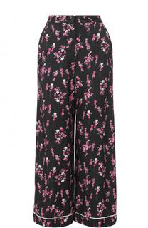 Укороченные широкие брюки с цветочным принтом Sonia by Sonia Rykiel