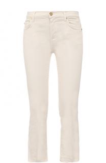 Укороченные расклешенные джинсы с потертостями 7 For All Mankind