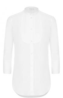 Блуза с воротником-стойкой и укороченными рукавами Helmut Lang