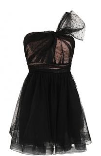 Приталенное мини-платье с бантом REDVALENTINO