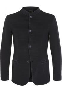 однобортный пиджак с воротником-стойкой Armani Collezioni