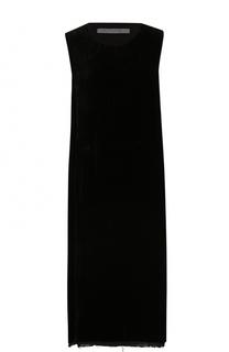 Платье-миди прямого кроя с разрезами Raquel Allegra