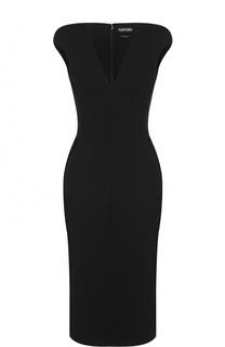 Облегающее платье с V-образным вырезом Tom Ford
