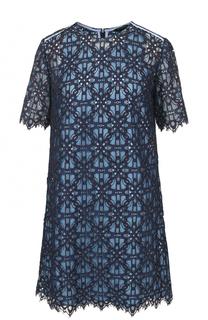 Кружевное мини-платье с коротким рукавом Tara Jarmon