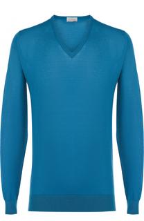 Пуловер тонкой вязки из смеси хлопка и кашемира John Smedley