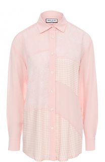 Шелковая блуза с кружевными вставками Paul&Joe Paul&Joe