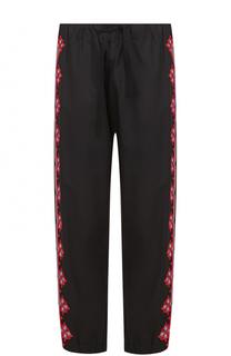 Хлопковые брюки свободного кроя с контрастной отделкой Stella McCartney