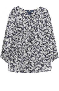 Блуза свободного кроя с принтом и топом Polo Ralph Lauren