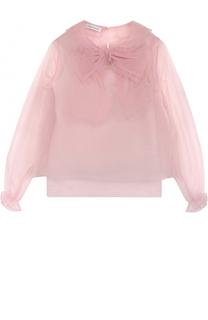 Полупрозрачная блуза с бантом и оборками I Pinco Pallino