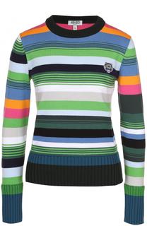 Пуловер в полоску с логотипом бренда Kenzo