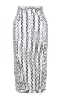 Буклированная юбка-карандаш Roland Mouret