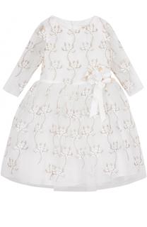 Мини-платье с металлизированной вышивкой и декором David Charles