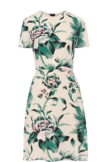 Приталенное платье-миди с цветочным принтом Burberry