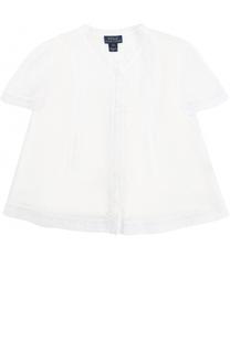 Хлопковая блуза с кружевной отделкой и топом Polo Ralph Lauren