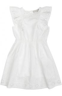 Хлопковое платье с кружевной отделкой и нижнее платье на тонких бретельках Stella McCartney