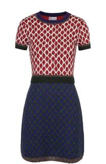 Приталенное мини-платье с контрастным принтом REDVALENTINO