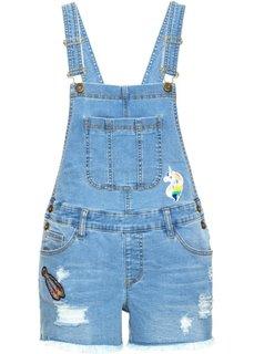 Короткий джинсовый комбинезон (голубой) Bonprix