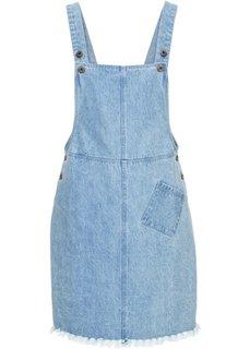 Платье-комбинезон с бахромой (нежно-голубой) Bonprix