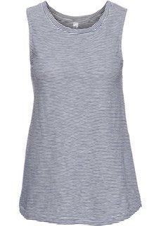 Топ с пуговицами на спине (синий/кремовый в полоску) Bonprix