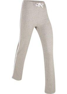 Спортивные брюки стретч (светло-серый меланж) Bonprix