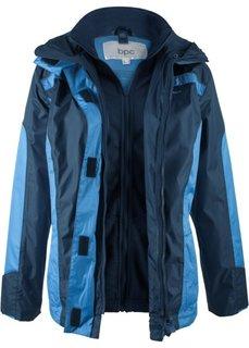 Непромокаемая куртка 3 в 1 (темно-синий/голубой) Bonprix