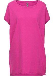 Удлиненная футболка (нежная фуксия) Bonprix