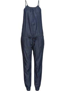 Непринужденный джинсовый комбинезон (темный деним) Bonprix