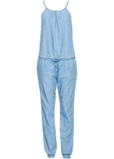 Непринужденный джинсовый комбинезон (голубой) Bonprix