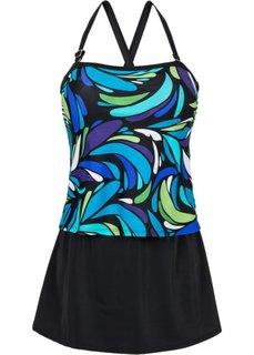 Купальное платье (черный/синий) Bonprix
