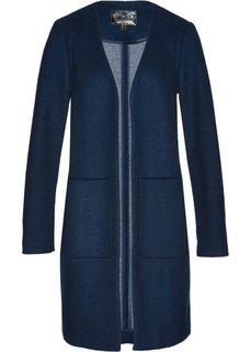 Пальто с долей шерсти (темно-синий/дымчато-серый) Bonprix