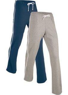 Спортивные брюки (2 шт.) (темно-синий/серый меланж) Bonprix