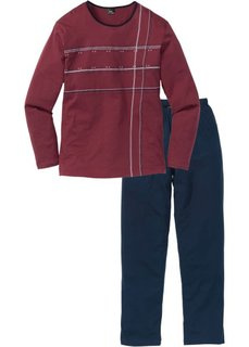 Пижама (темно-синий/бордовый) Bonprix