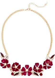 Колье с цветами (красный каштан/персиковый) Bonprix