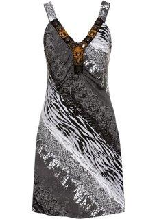 Летнее платье (черный/белый с узором) Bonprix