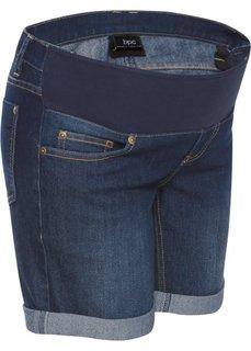 Для будущих мам: джинсовые шорты с эластичным поясом (темно-синий «потертый») Bonprix
