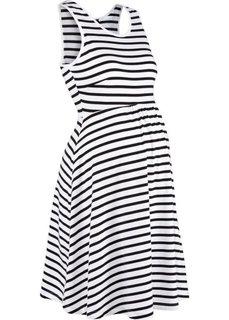 Полосатое платье для беременных (черный/белый в полоску) Bonprix