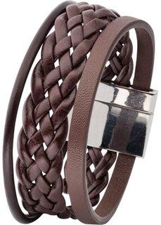 Плетеный мужской браслет (коричневый) Bonprix