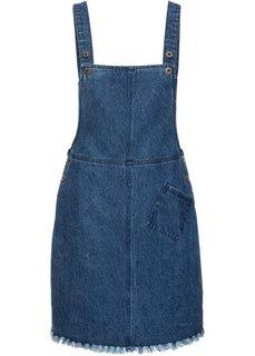Платье-комбинезон с бахромой (синий «потертый») Bonprix