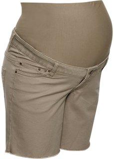 Шорты для беременных (серо-коричневый) Bonprix