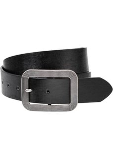 Ремень с винтажной пряжкой (черный) Bonprix