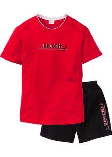 Мужская пижама (красный/черный) Bonprix